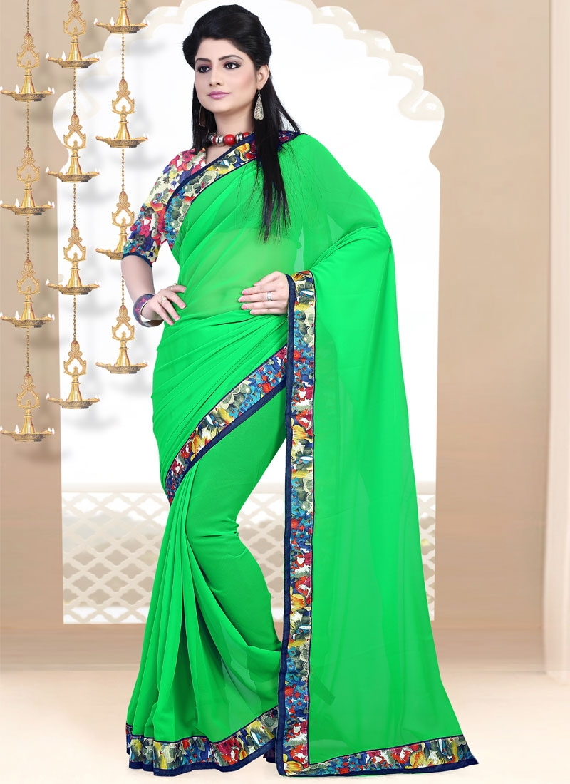 Affectionate Faux Georgette Casual Saree