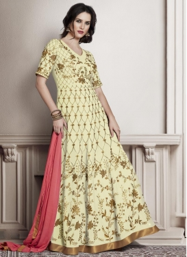 Affectionate Faux Georgette Floor Length Anarkali Salwar Suit For Festival