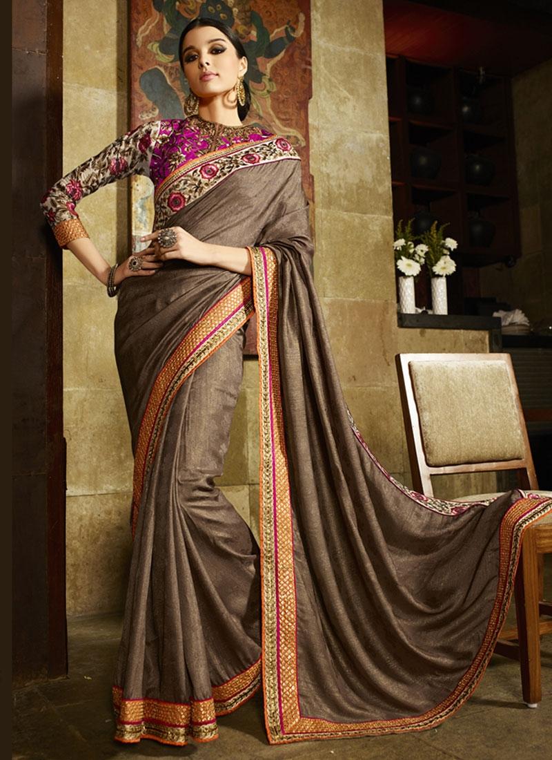 Affectionate Jacquard Silk Resham Work Designer Saree