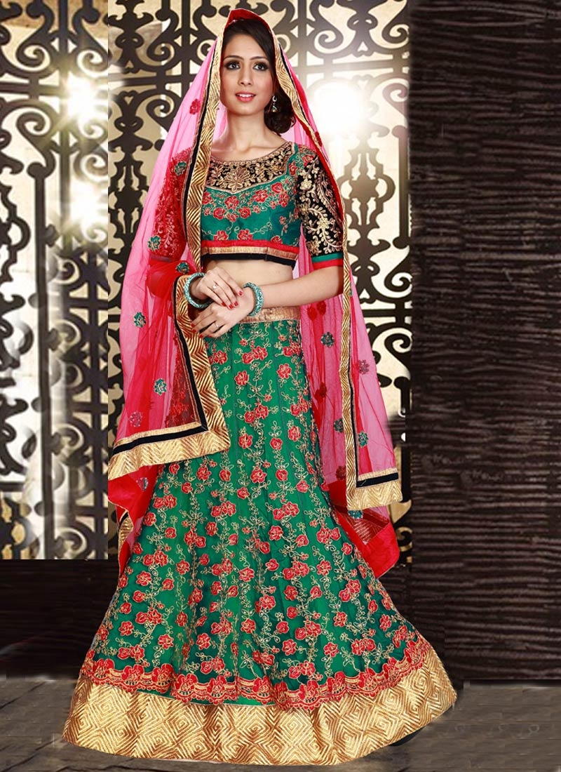 Affectionate Lace Work Net Wedding Lehenga Choli