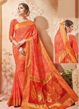 Affectionate Lace Work Traditional Saree
