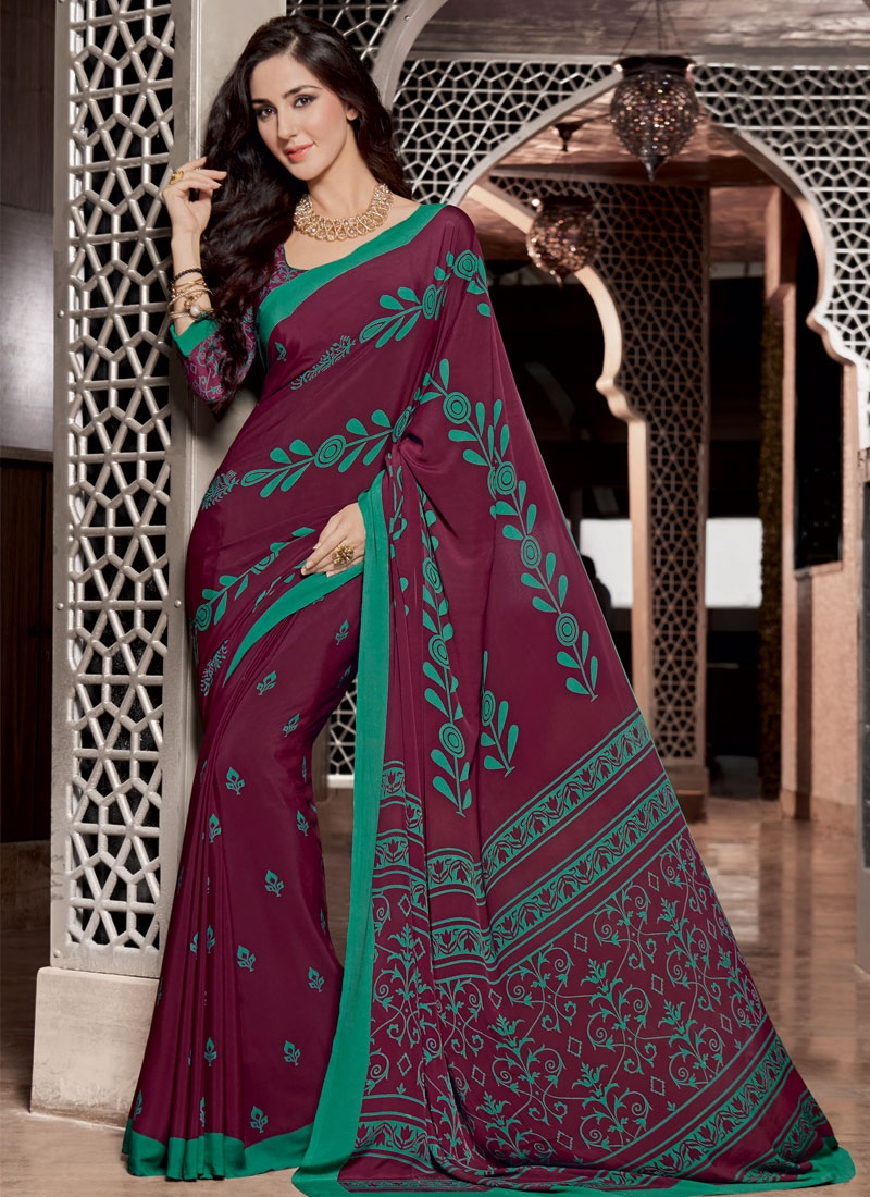 Affectionate Maroon Color Crepe Silk Casual Saree
