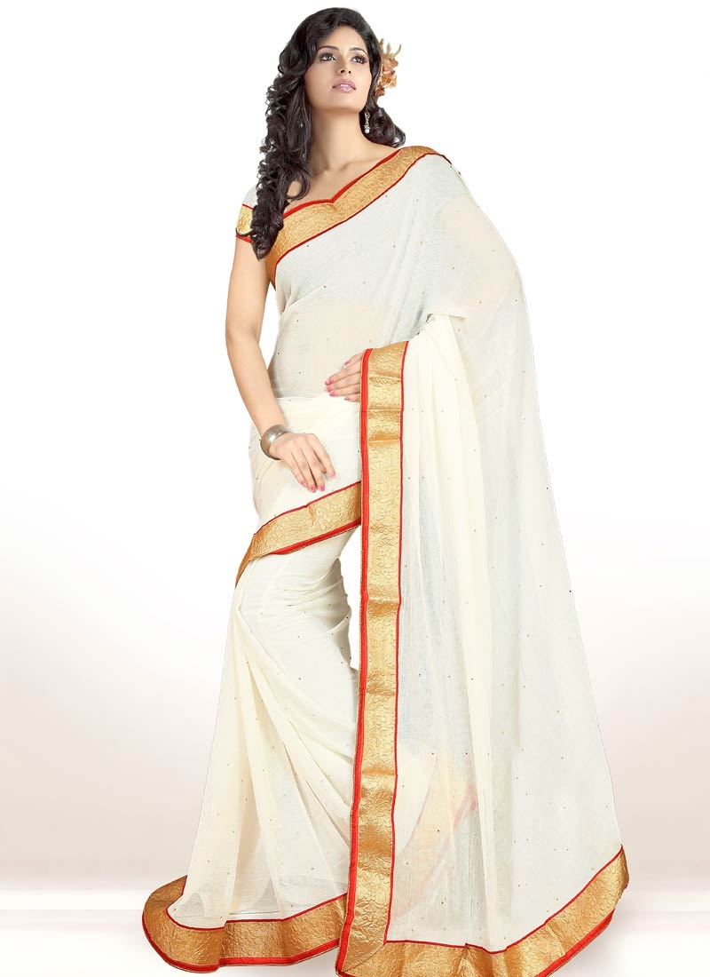 Affectionate Off White Color Casual Saree