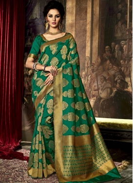Affectionate  Resham Work Contemporary Style Saree For Ceremonial