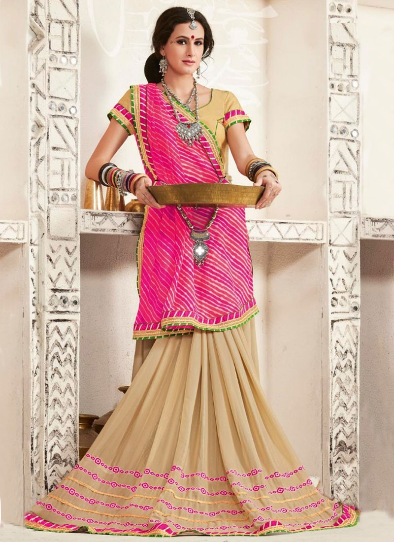Affectionate Resham Work Half N Half Party Wear Saree