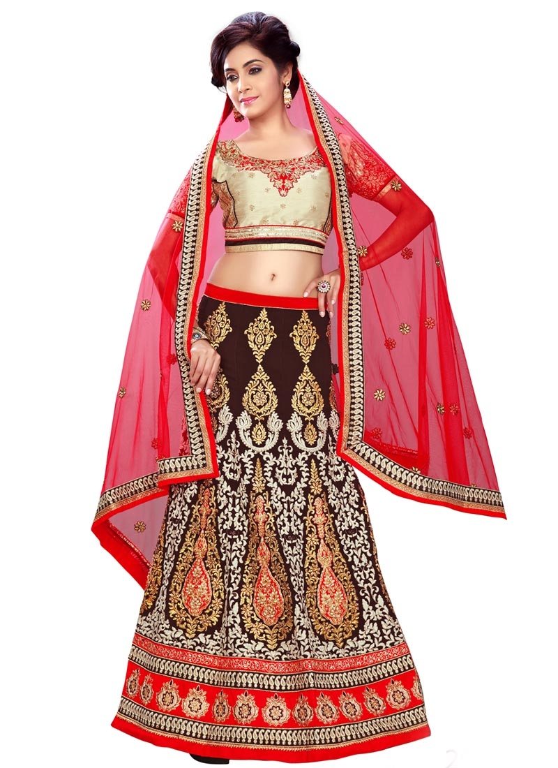Affectionate Resham Work Maroon Color Bridal Lehenga Choli