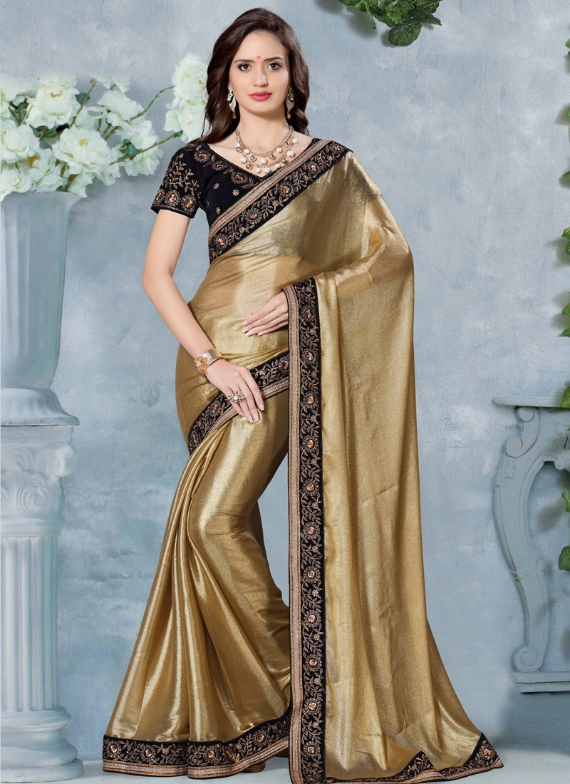 Affectionate Shimmer Georgette Designer Saree