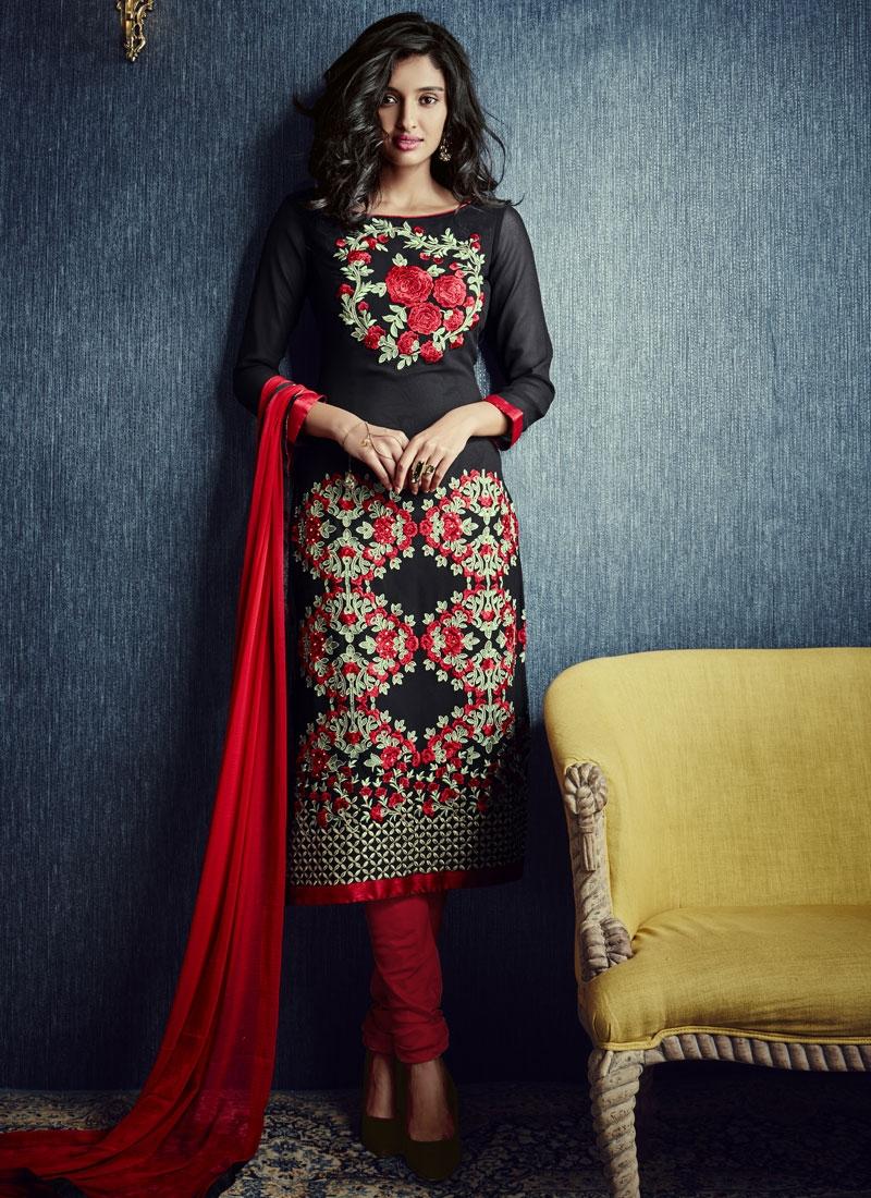 Affectionate Stone Work Black Color Party Wear Salwar Kameez