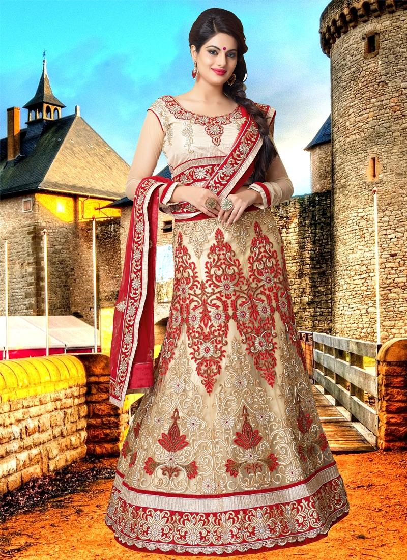 Alluring Beads Work Bridal Lehenga Choli