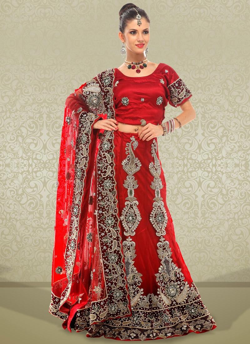 Alluring Cord Enhanced Bridal Lehenga Choli