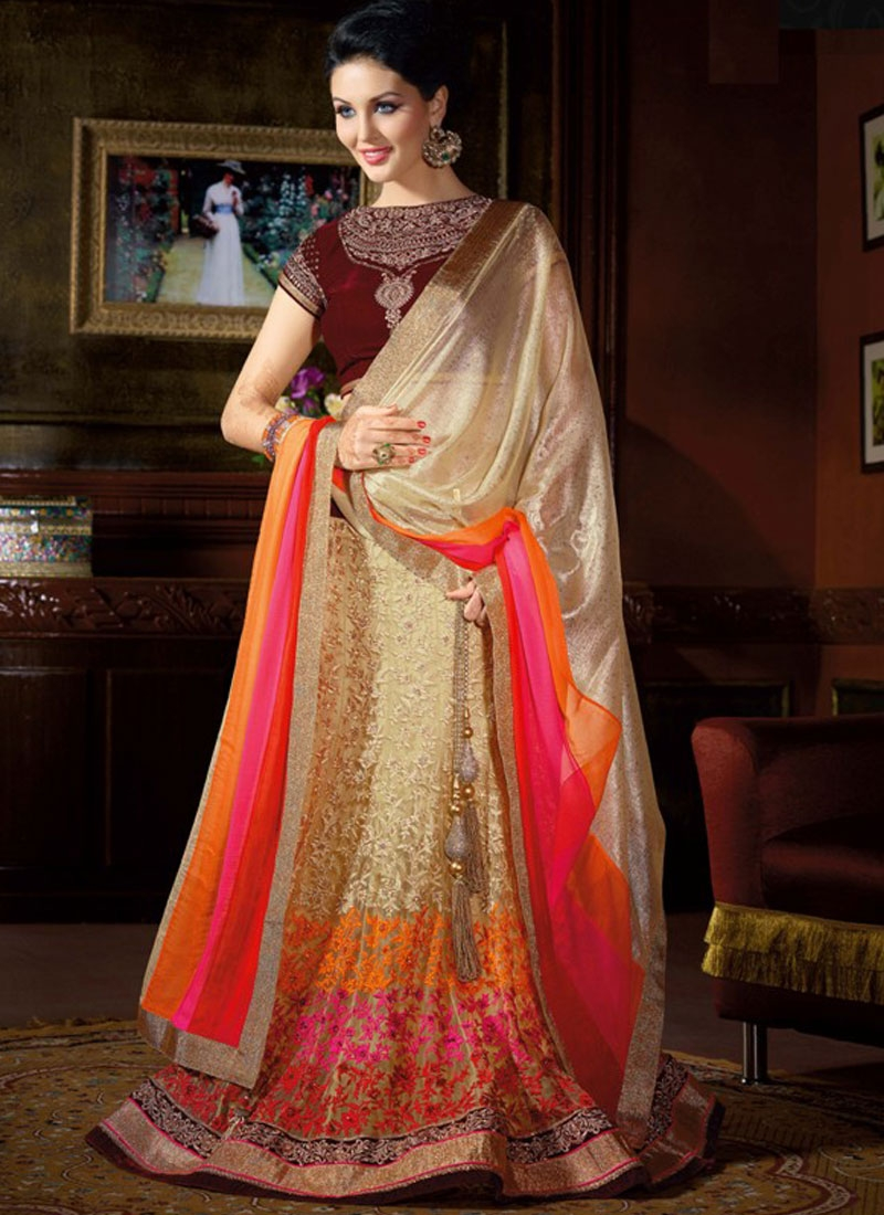 Alluring Embroidery Work Designer Lehenga Choli
