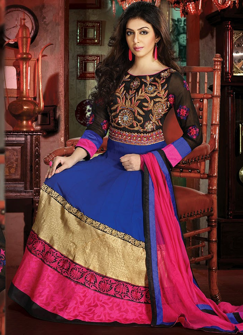 Alluring Stone Work Readymade Anarkali Suit