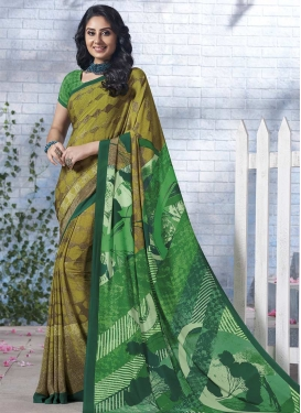 Aloe Veera Green and Green Traditional Saree For Casual