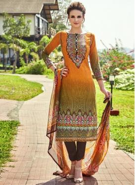 Amazing  Digital Print Work Pant Style Pakistani Salwar Kameez