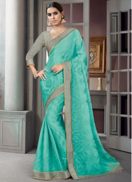 Amazing  Faux Chiffon Designer Contemporary Saree