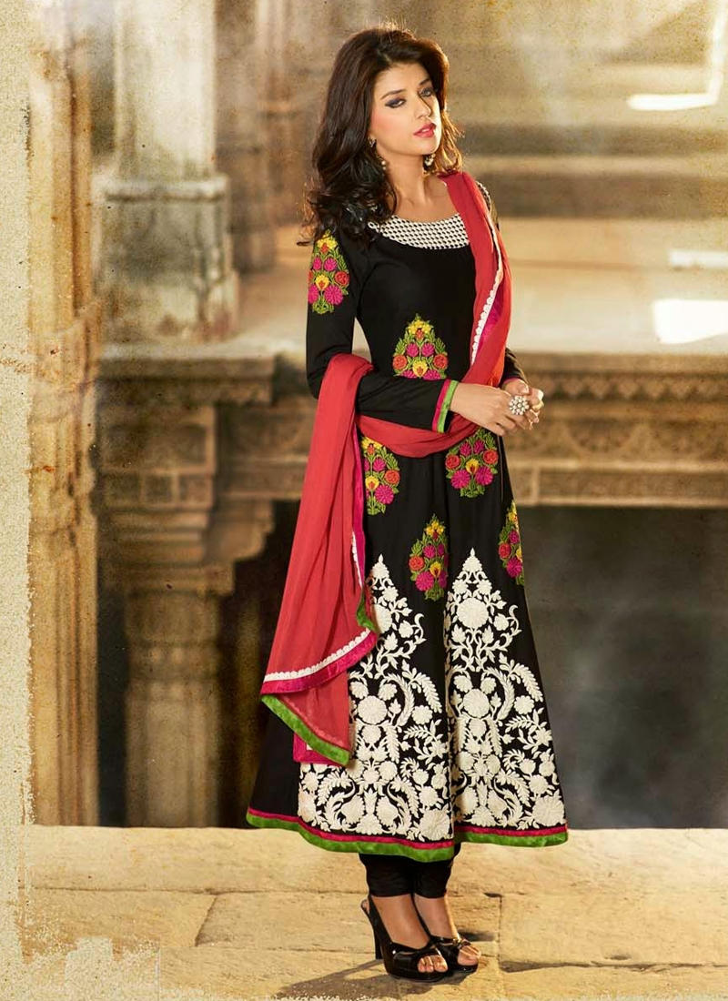 Amazing Floral Work Cotton Party Wear Suit