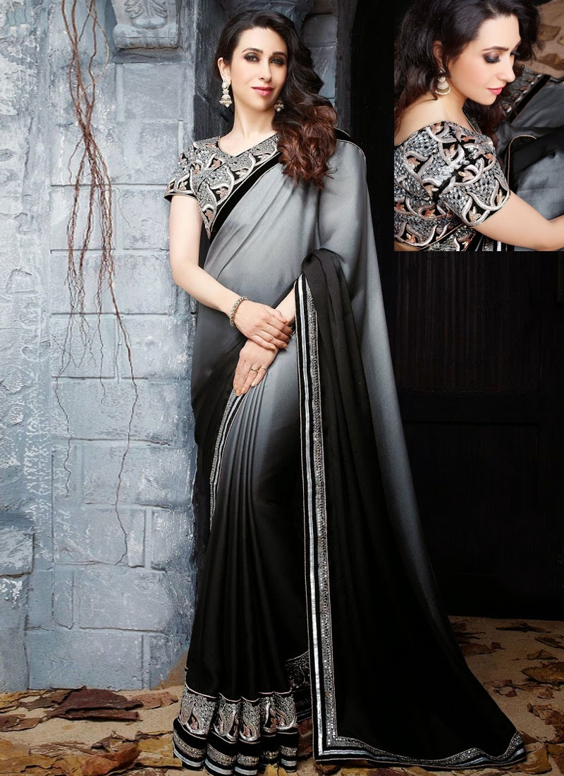04451262ced Amazing Georgette And Silk Karishma Kapoor Party wear Saree
