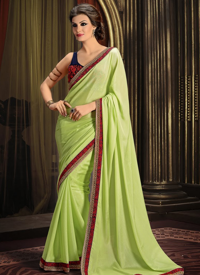 Amazing Mint Green Color Party Wear Saree