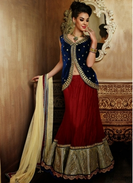 Amazing Resham And Lace Work Wedding Lehenga Choli