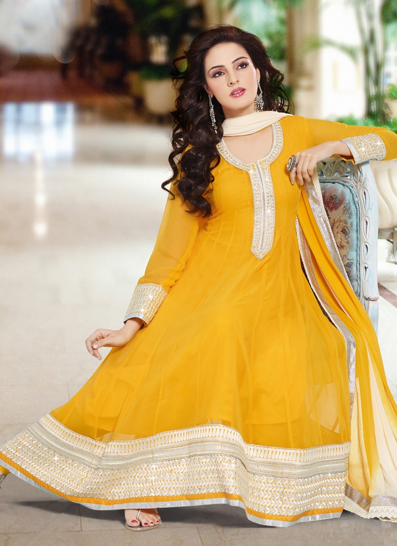 Amazing Stone Enhanced Anarkali Salwar Kameez