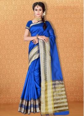 Amusing Banarasi Silk Thread Work Trendy Saree