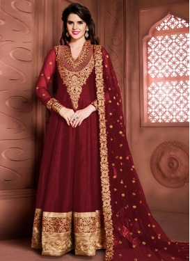 Amusing Banglori Silk Long Length Anarkali Salwar Suit