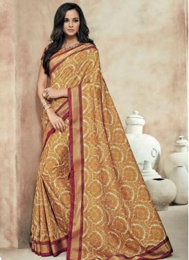 Amusing Brown Color Art Silk Party Wear Saree