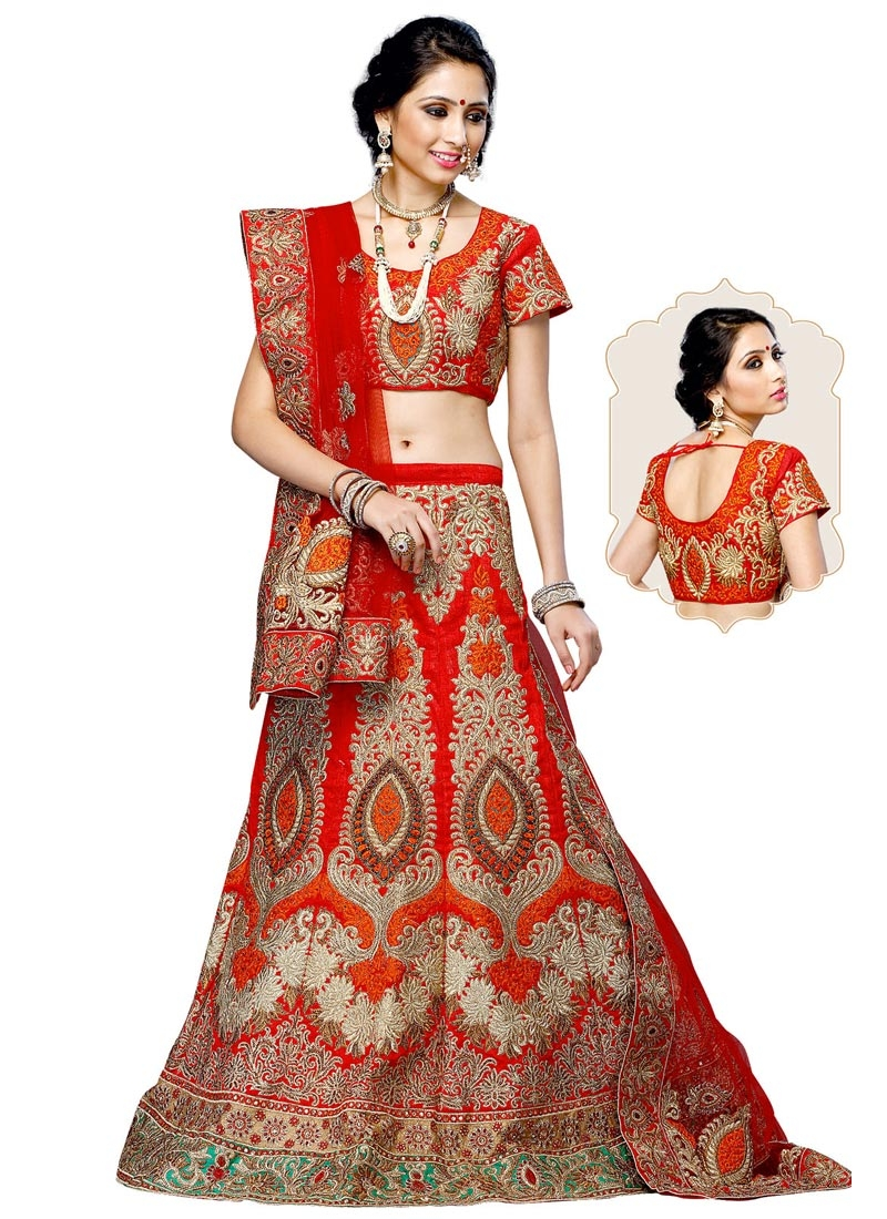 Amusing Embroidery Work Wedding Lehenga Choli