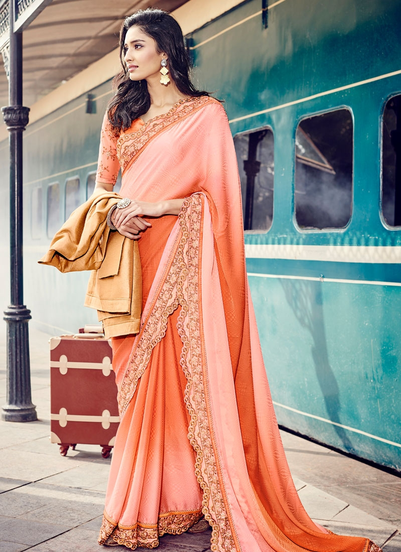 Amusing Jacquard Stone Work Party Wear Saree