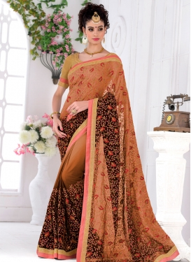 Amusing Lace And Sequins Work Party Wear Saree