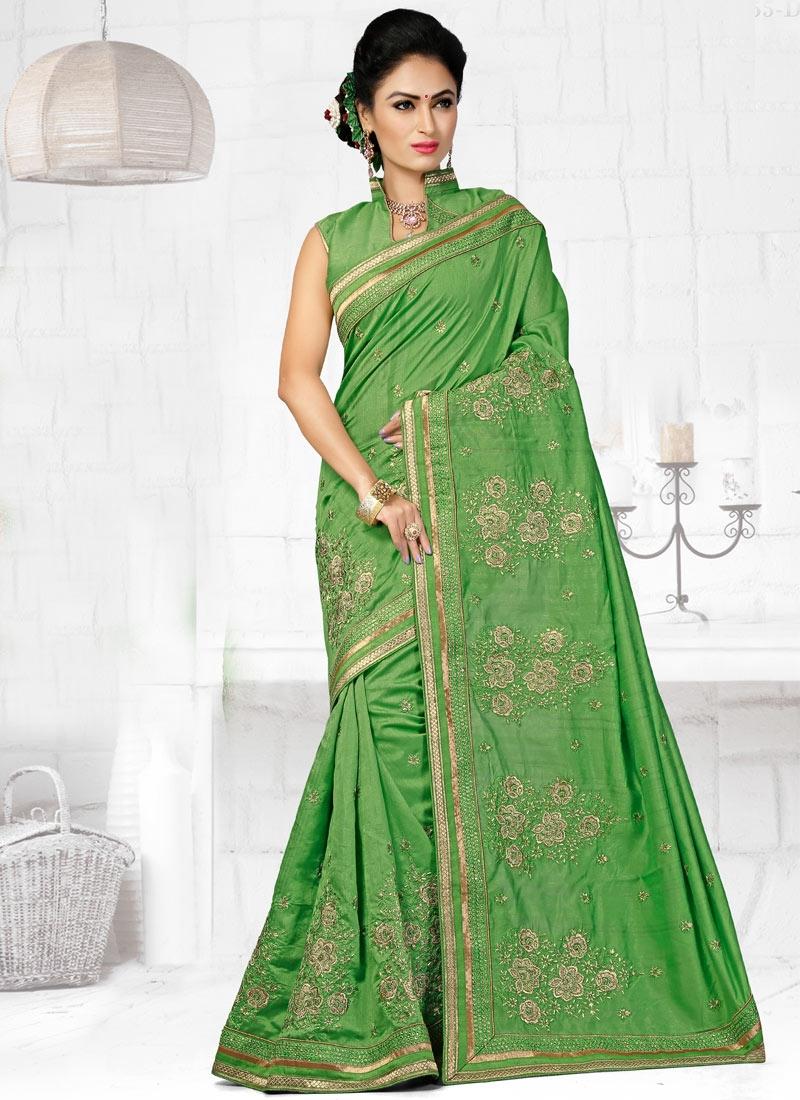 Amusing Stone Work Bhagalpuri Silk Designer Saree