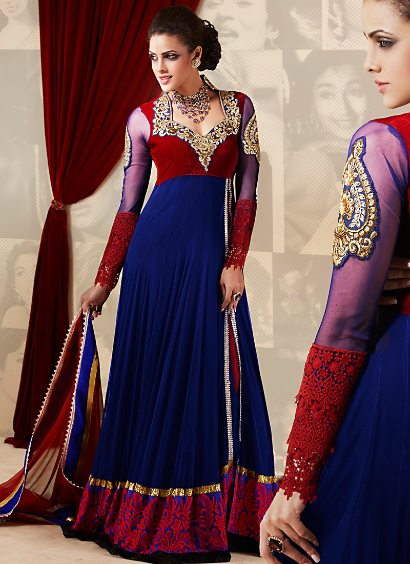 Angelic Net And Georgette Anarkali Suit