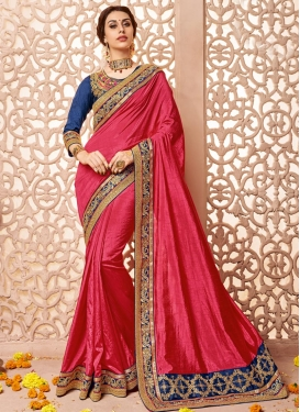 Angelic Raw Silk Lace Work Contemporary Style Saree For Ceremonial