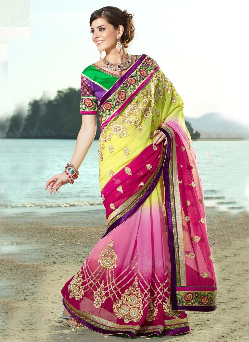 Angelic Sequins Enhanced Designer Saree