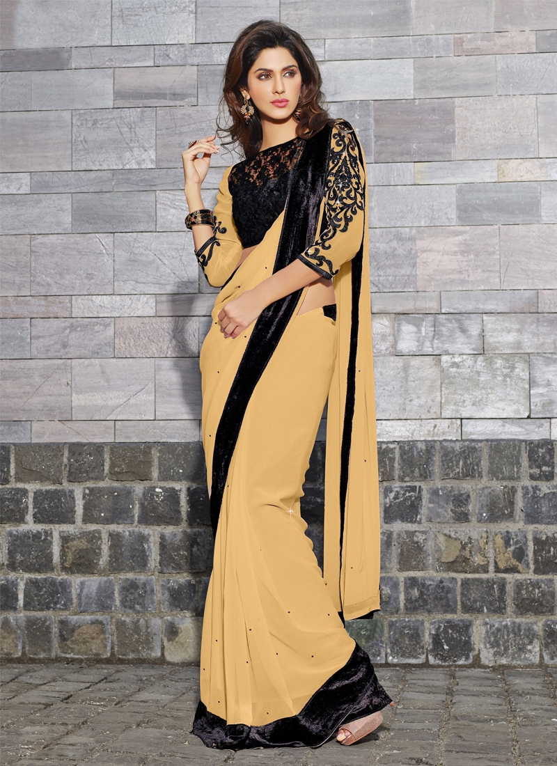 Angelic Stone Work Georgette Casual Saree