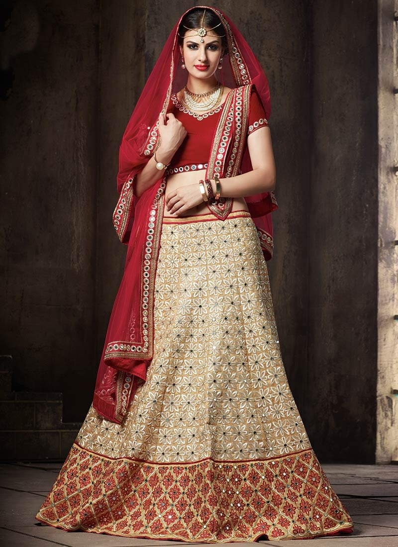 Appealing Embroidery Work Wedding Lehenga Choli