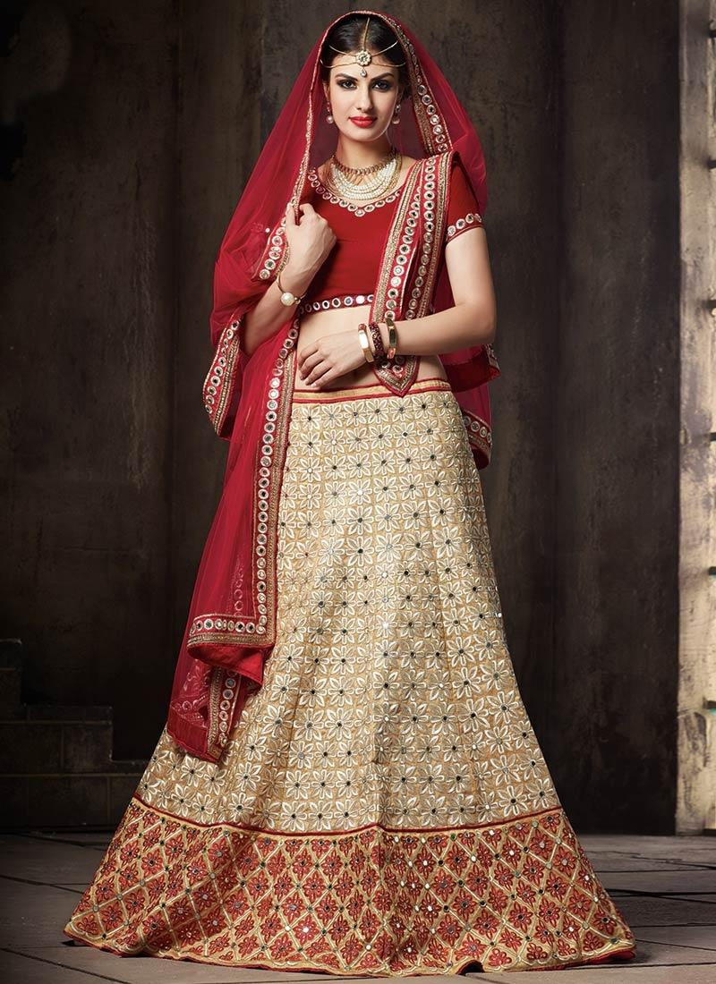 Appealing Embroidery Work Wedding Lehenga Choli