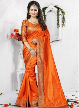 Appealing  Lace Work Trendy Classic Saree For Festival