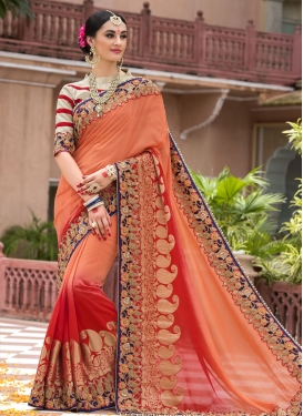 Appealing  Silk Designer Contemporary Saree For Bridal