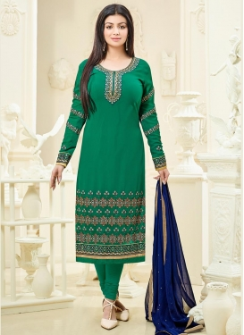 Aristocratic Ayesha Takia Embroidered Work Straight Pakistani Salwar Kameez