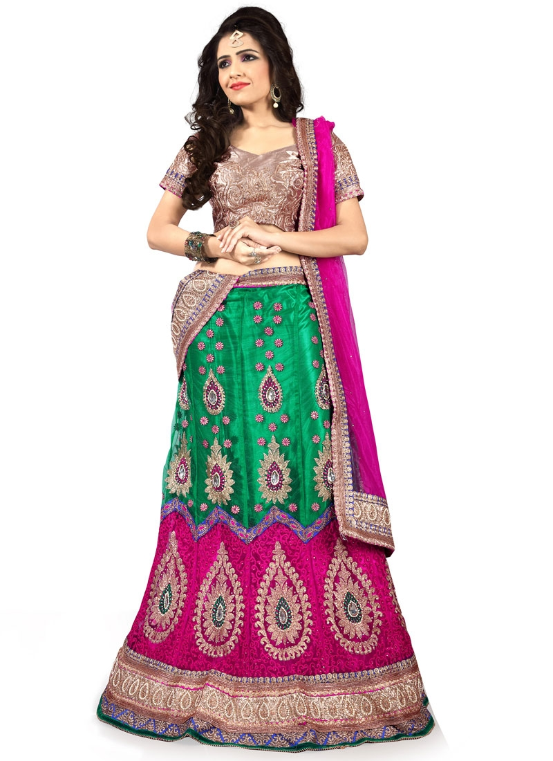 Aristocratic Beads Work Wedding Lehenga Choli