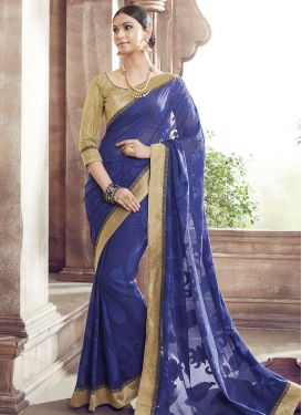 Aristocratic Brasso Georgette Party Wear Saree