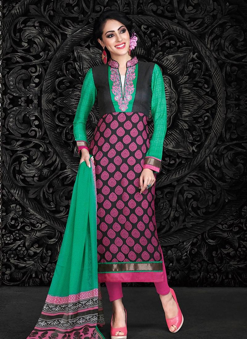 Aristocratic Crepe Silk Pant Style Pakistani Suit
