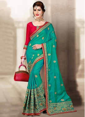 Aristocratic Embroidered Work Trendy Classic Saree