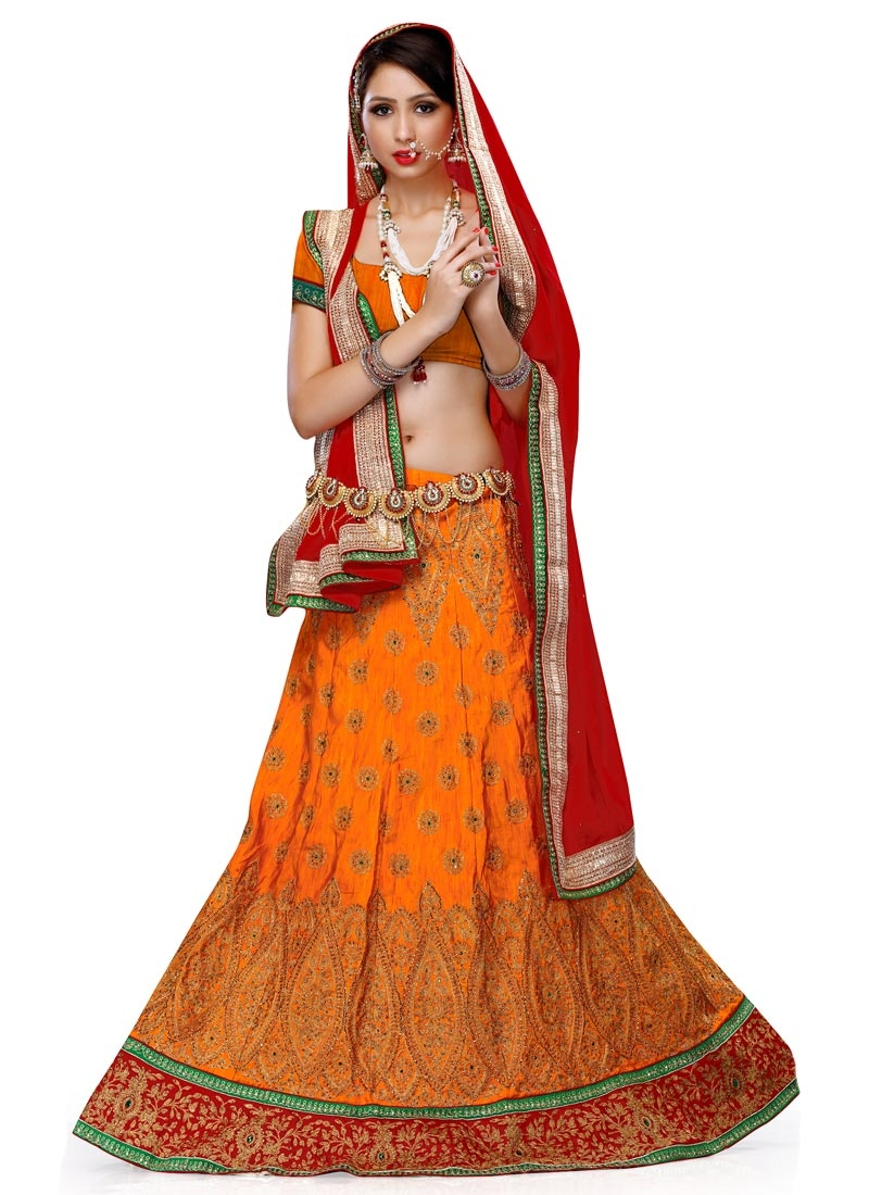 Aristocratic Embroidery Work Silk Wedding Lehenga Choli