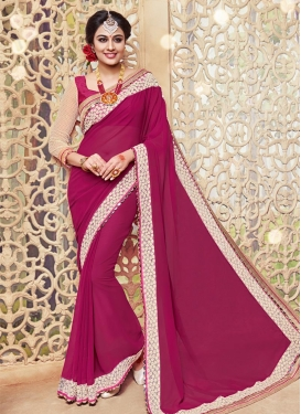 Aristocratic Lace Work  Contemporary Style Saree