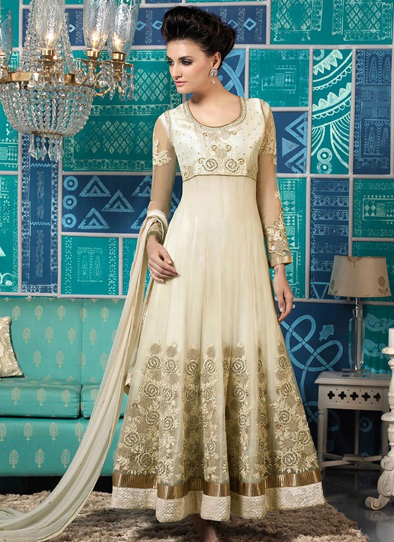 Aristocratic Off White Color Wedding Salwar Suit