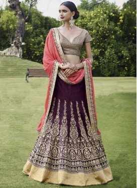 Aristocratic Resham And Booti Work Wedding Lehenga Choli