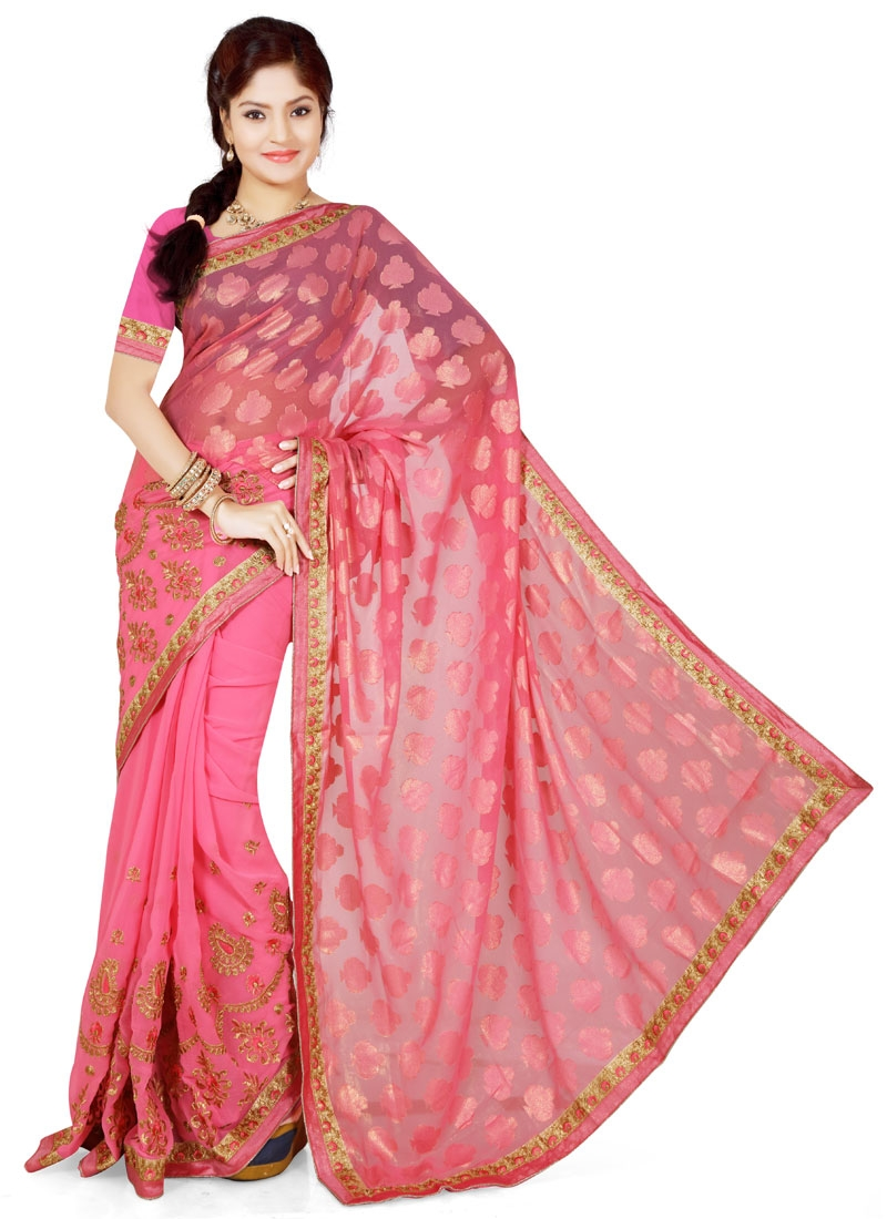 Arresting Brasso Lace Work Party Wear Saree