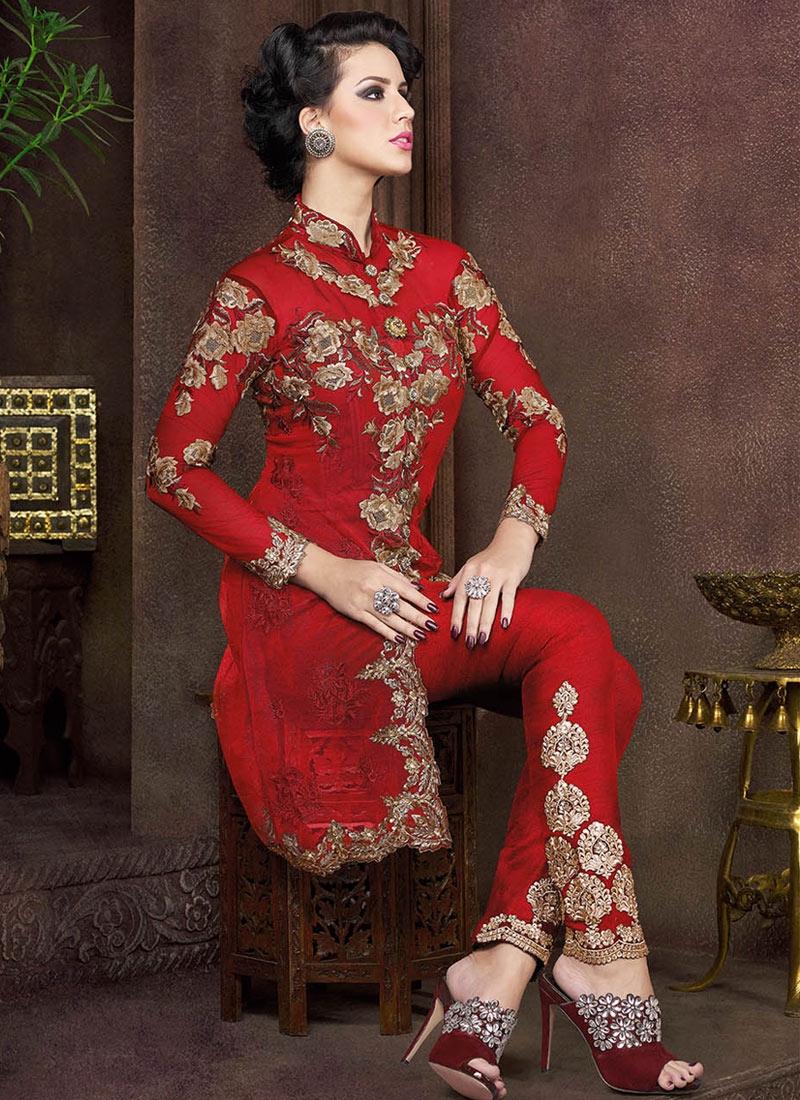 Arresting Sequins Work Pant Style Designer Salwar Kameez